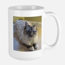 birman laying blue lynx point mittened Mugs