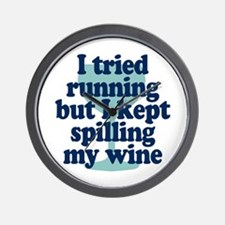 Tried Running Spilled Wine Wall Clock