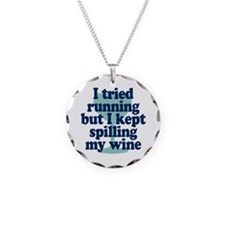 Tried Running Spilled Wine Necklace