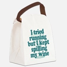 Tried Running Spilled Wine Canvas Lunch Bag