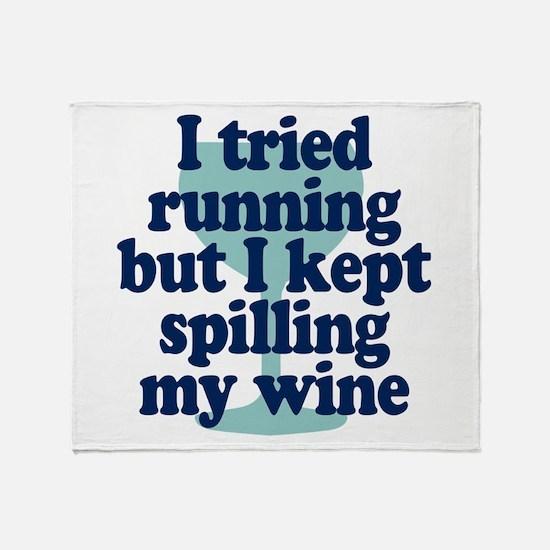 Tried Running Spilled Wine Throw Blanket