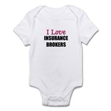 I Love INSURANCE BROKERS Infant Bodysuit