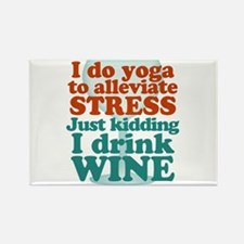 I Do Yoga / I Drink Wine Magnets