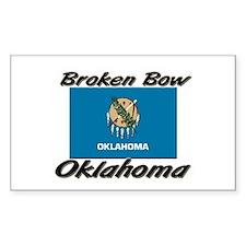 Broken Bow Oklahoma Rectangle Decal