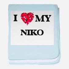 I love my Niko baby blanket