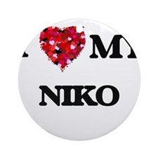 I love my Niko Ornament (Round)