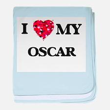 I love my Oscar baby blanket