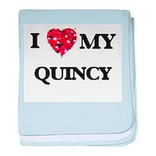 I love my Quincy baby blanket