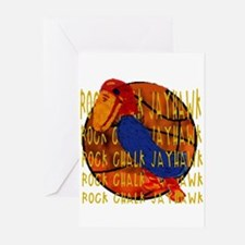 Rock Chalk Jayhawk Basketball Greeting Cards