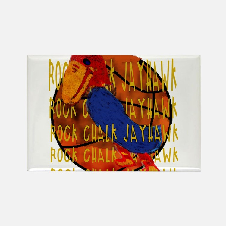 Rock Chalk Jayhawk Basketball Magnets
