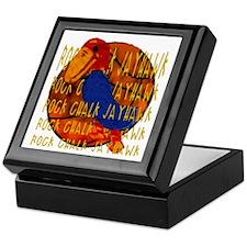 Rock Chalk Jayhawk Basketball Keepsake Box