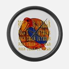 Rock Chalk Jayhawk Basketball Large Wall Clock