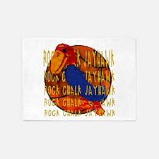 Rock Chalk Jayhawk Basketball 5'x7'Area Rug
