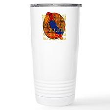 Rock Chalk Jayhawk Basketball Travel Mug