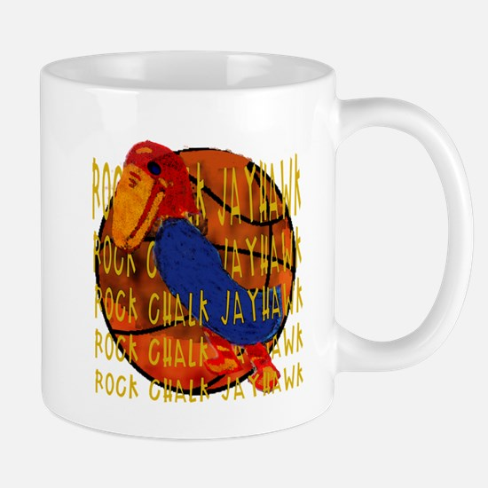 Rock Chalk Jayhawk Basketball Mugs
