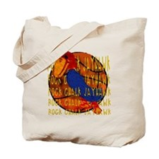 Rock Chalk Jayhawk Basketball Tote Bag