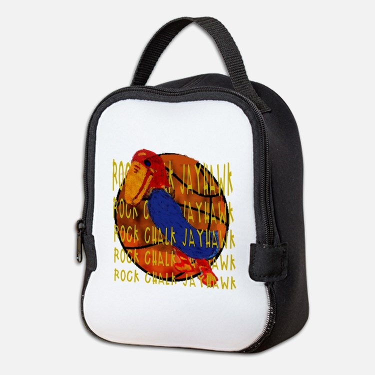 Rock Chalk Jayhawk Basketball Neoprene Lunch Bag