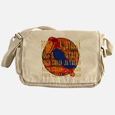 Rock Chalk Jayhawk Basketball Messenger Bag