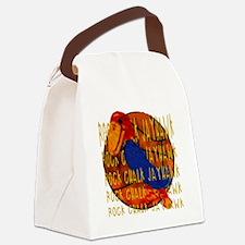 Rock Chalk Jayhawk Basketball Canvas Lunch Bag