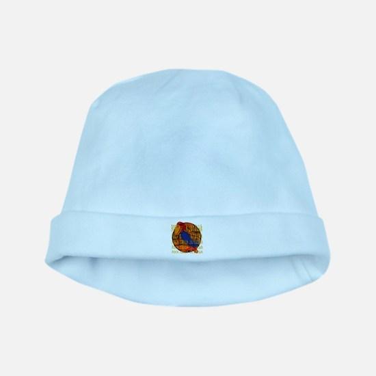 Rock Chalk Jayhawk Basketball baby hat
