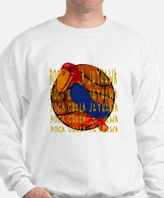 Rock Chalk Jayhawk Basketball Sweatshirt