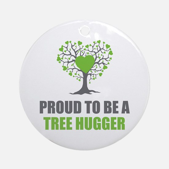 Tree Hugger Ornament (Round)