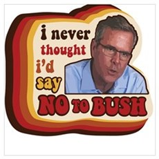 Be groovy and say no to Bush Poster