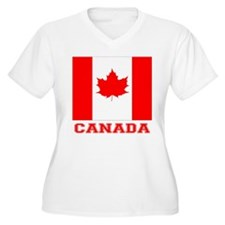 Flag of Canada Plus Size T-Shirt