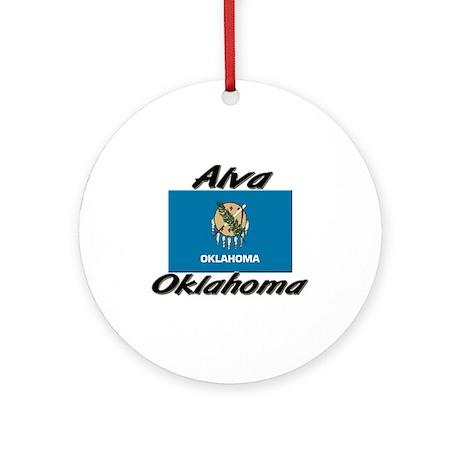 Alva Oklahoma Ornament (Round)