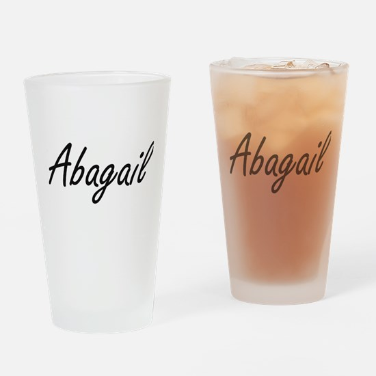 Abagail artistic Name Design Drinking Glass