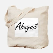 Abagail artistic Name Design Tote Bag