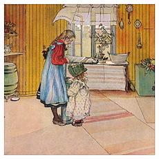 The kitchen: Carl Larsson Poster