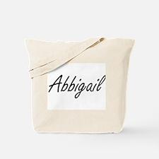 Abbigail artistic Name Design Tote Bag
