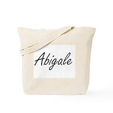 Abigale artistic Name Design Tote Bag