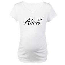 Abril artistic Name Design Shirt