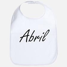 Abril artistic Name Design Bib
