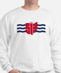 513 Cincinnati Flag Hometown Art Sweatshirt