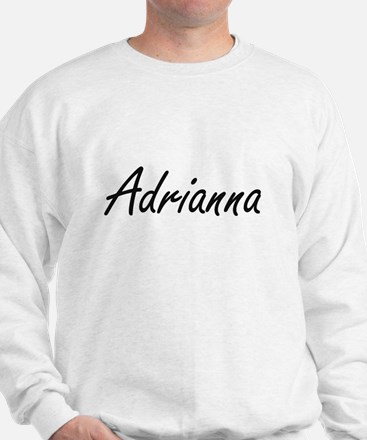 Adrianna artistic Name Design Sweater