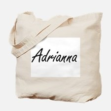 Adrianna artistic Name Design Tote Bag