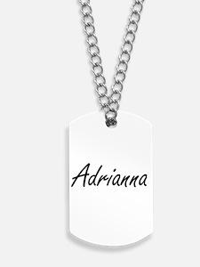 Adrianna artistic Name Design Dog Tags