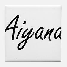 Aiyana artistic Name Design Tile Coaster