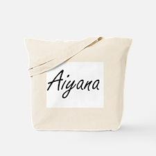 Aiyana artistic Name Design Tote Bag