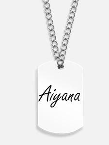 Aiyana artistic Name Design Dog Tags