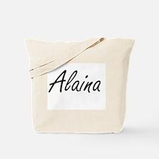 Alaina artistic Name Design Tote Bag