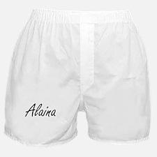 Alaina artistic Name Design Boxer Shorts