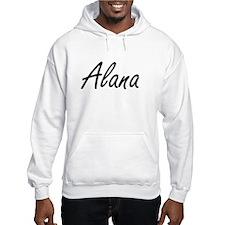 Alana artistic Name Design Hoodie Sweatshirt