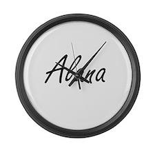 Alana artistic Name Design Large Wall Clock