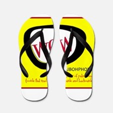 WOW AIBOHPHOBIA PALINDROMES Flip Flops