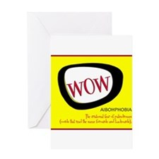 WOW AIBOHPHOBIA PALINDROMES Greeting Cards