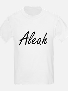Aleah artistic Name Design T-Shirt